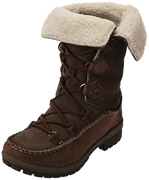 Merrell Emery Lace High - Botas para mujer, Braun (Marron (Falcon))