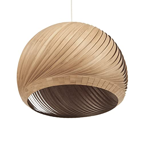 Amazing Bamboo Wood Veneer Lampshade   Modern Ceiling Pendant Light