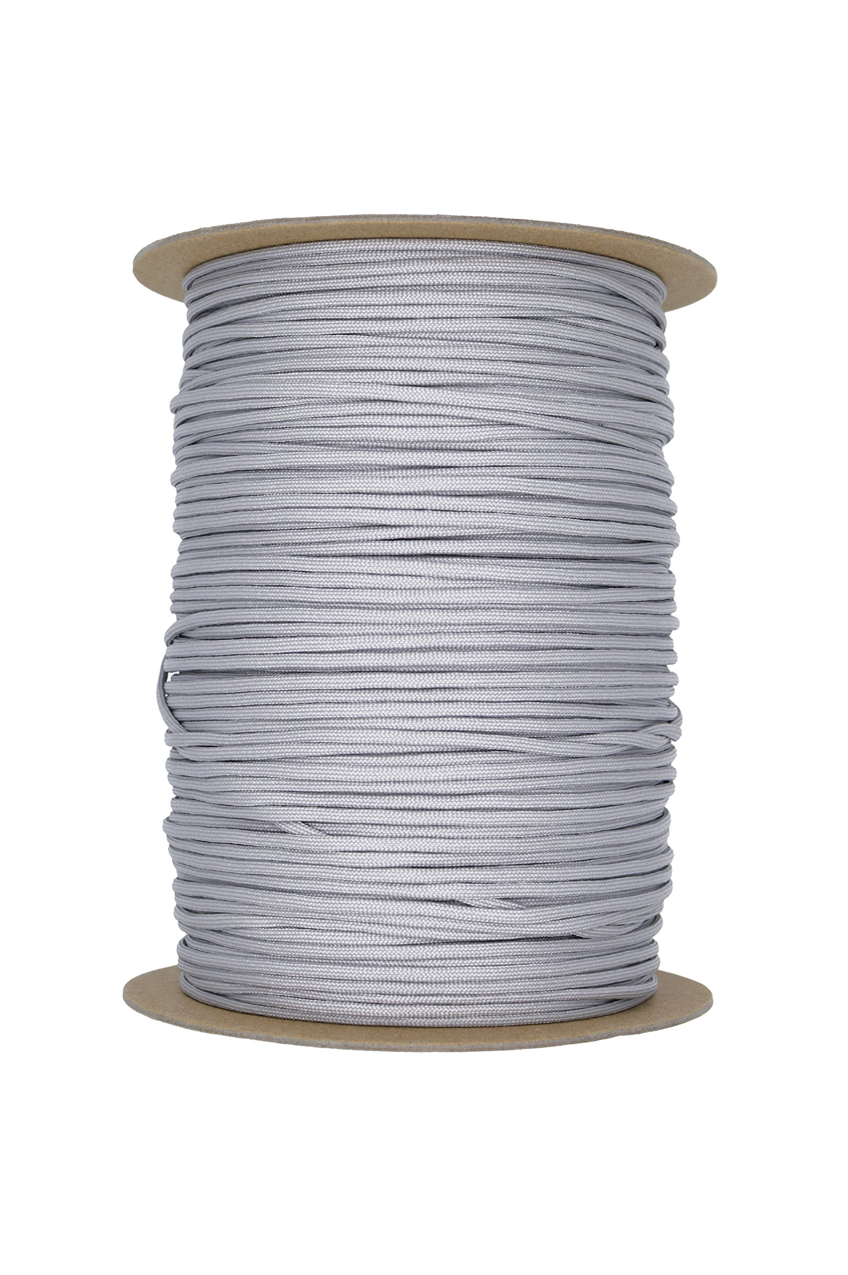 Paracord Rope 550 Type III Paracord - Parachute Cord - 550lb Tensile Strength - 100% Nylon - Made In The USA (Silver Grey, 100 Feet) by Paracord Rope (Image #3)