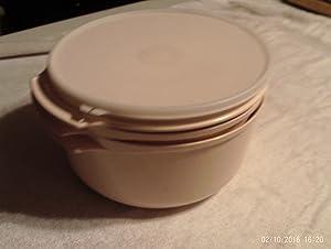 Tupperware Tupperwave Stack-Cooker Starter Set 4 pc Beige with Sheer Seal