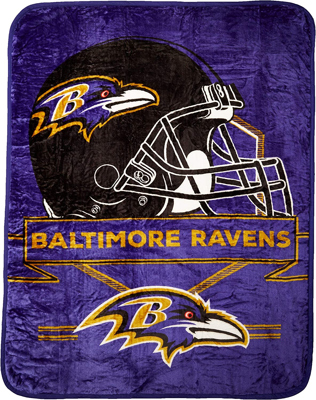60 x 80 Multi Color Officially Licensed NFL Prestige Plush Raschel Throw Blanket