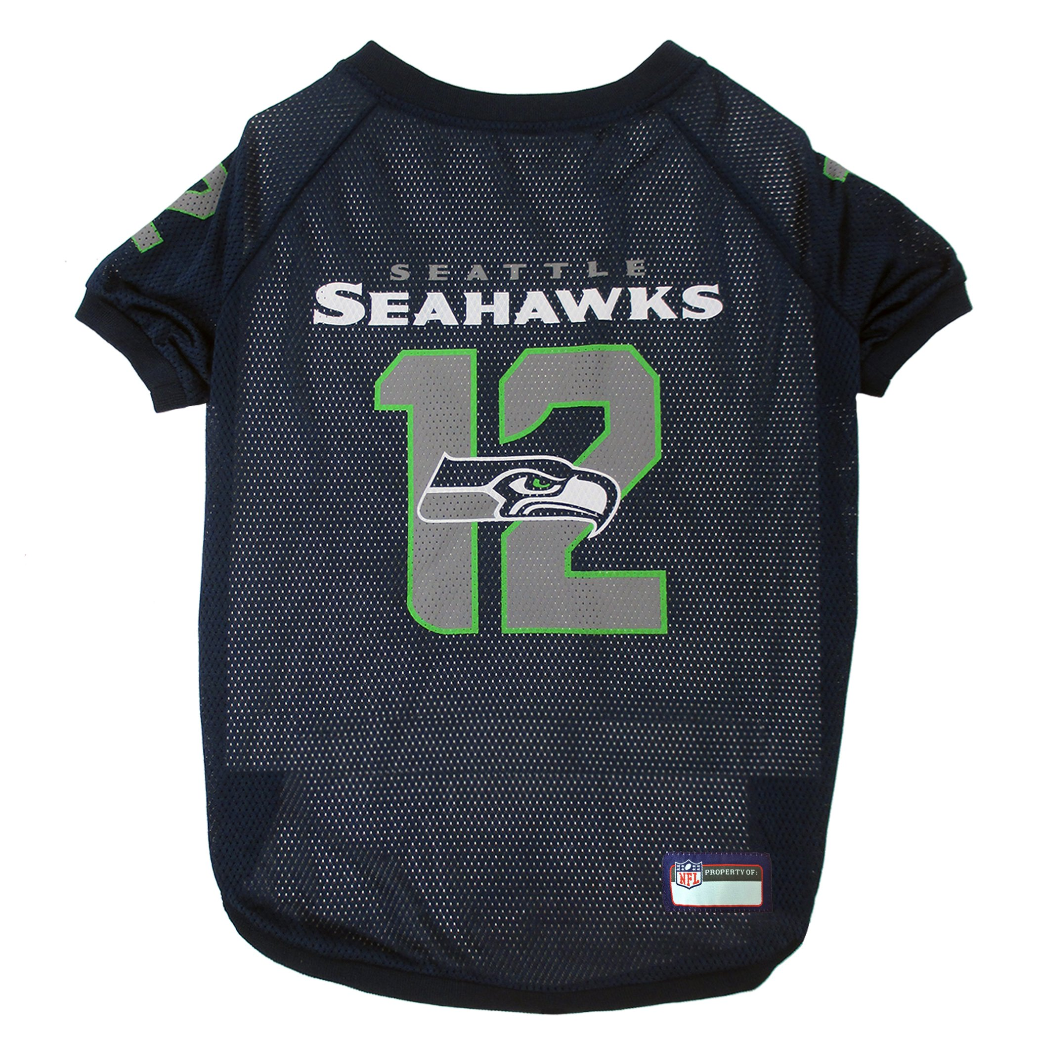 Pets First NFL Seattle Seahawks No. 12th Pet Jersey, Medium