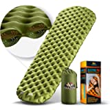 Sleeping Pad for Camping, Large Size 4''-Thick, Ultralight. Innovate Sleeping Mat, 2 Independent Air Cameras. Best Sleep…