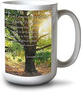 product image for Lantern Press Jeremiah 29:11 - Inspirational (15oz White Ceramic Mug)