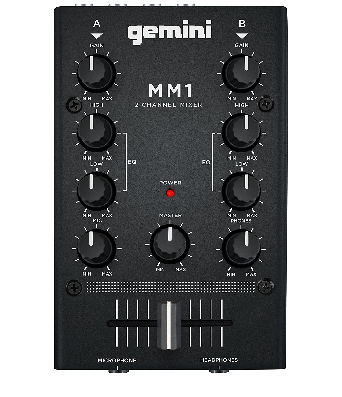 Gemini MM1 2-Channel DJ Mixer