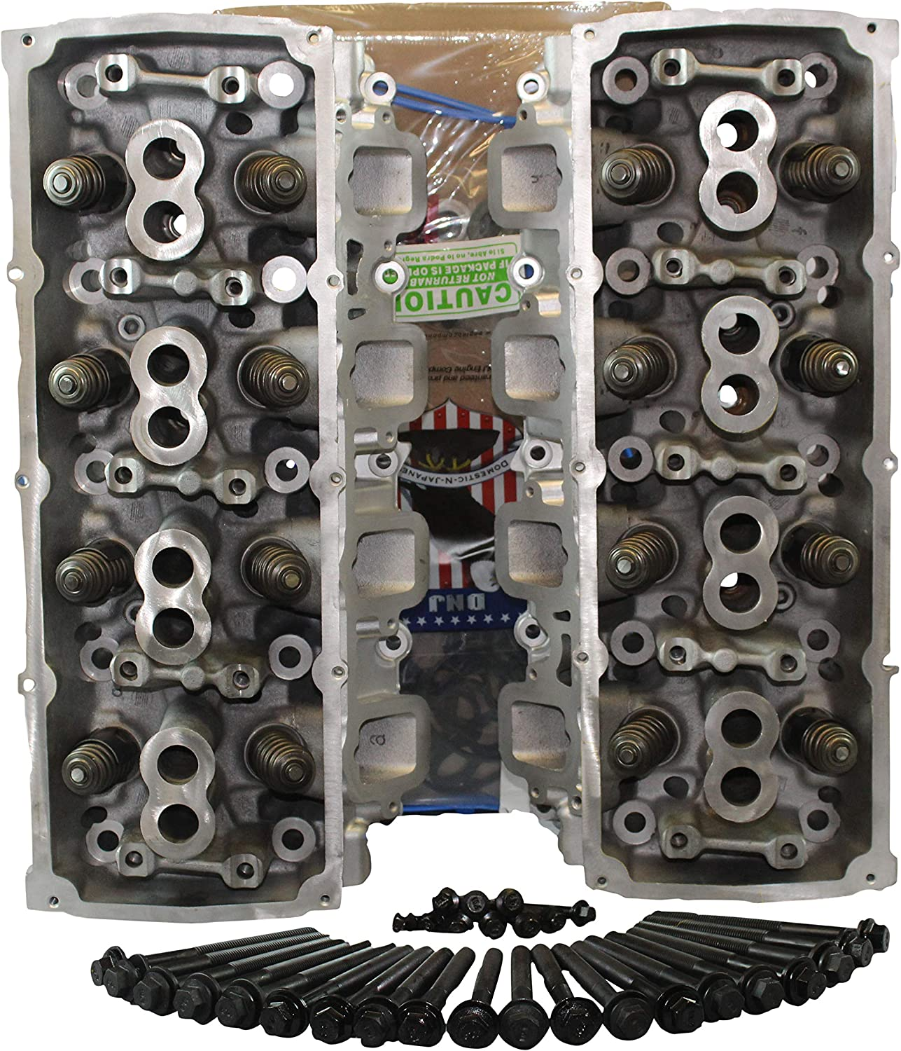 Amazon Com Remanufactured Cylinder Heads For 5 7 Ohv V8 Hemi Charger Challenger 300c Cherokee W Head Gasket Set Head Bolts Core Return Required Automotive