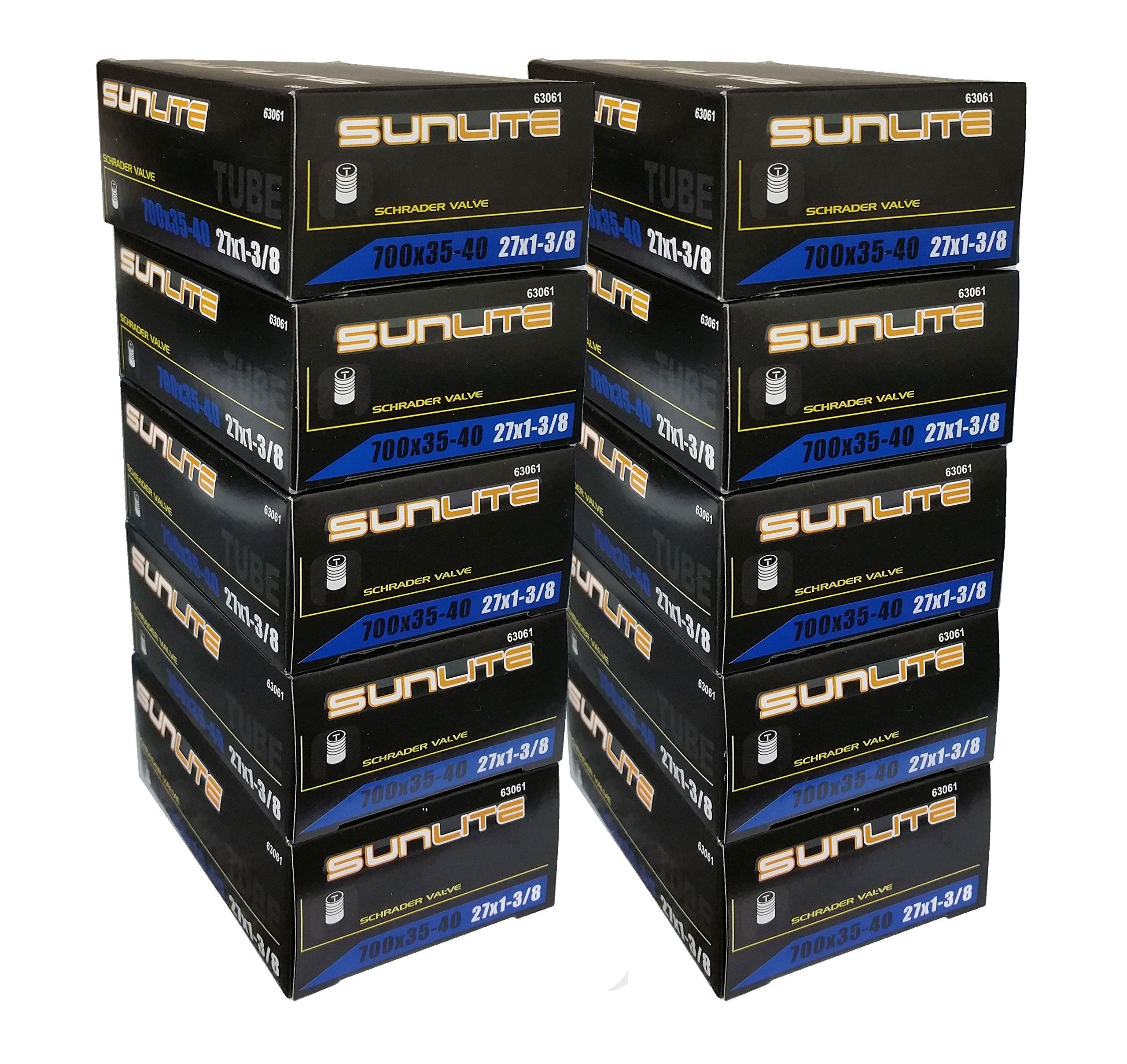 10 PACK SPECIAL - Tube, 700 x 35-40 (27 x 1-3/8) SCHRADER Valve 32mm, Sunlite (10 PACK SPECIAL)