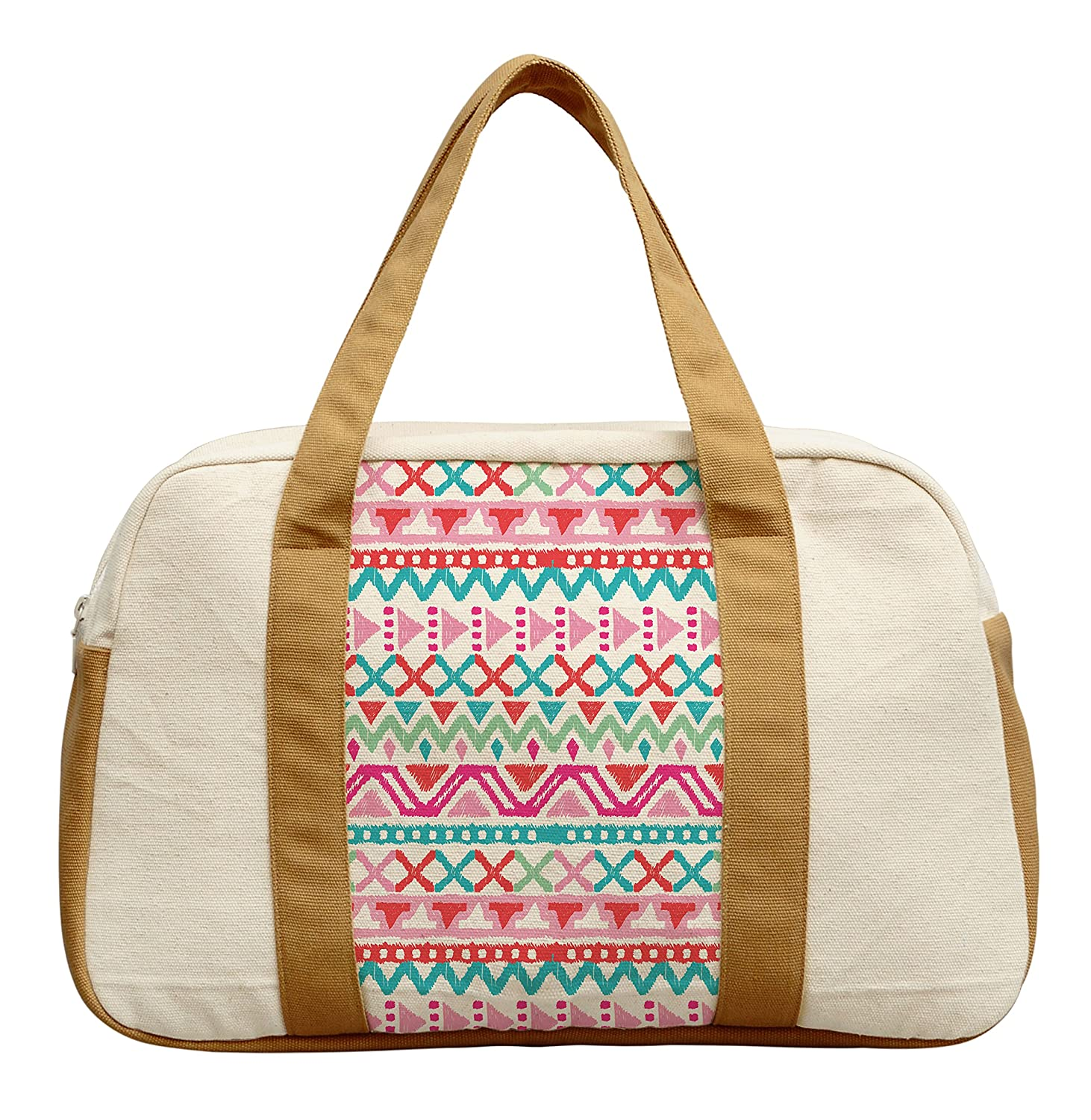 Womens Ethnic Aztec Pattern Printed Canvas Duffel Travel Bags WAS/_19