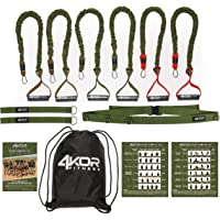 4KOR Fitness Resistance Cord Set, Strength and Performance System (3 Levels W/Door Strap)
