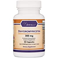 Dihydromyricetin (DHM) 50 Capsules, 300mg, Alcohol Consumption Support Supplement (Third Party Tested) Made in the USA…