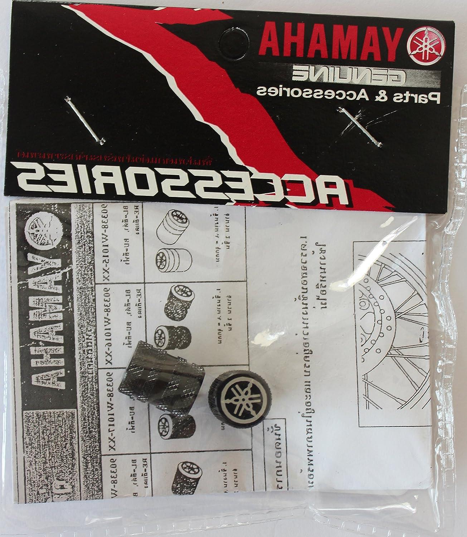 Jeu de 2 GENUINE Yamaha Tuning Fourche molet/é NOIR Pneu Capuchons Valve Capuchons Poussi/ère Protecteurs contres des pour les motos Bicyclettes Voiture Van ATV