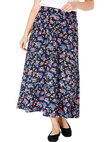 a23135825 Woman Within Women's Plus Size Everywear Essential A-Line Maxi Skirt
