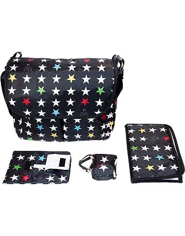 e960543e0b My Bag's Conjunto Canastilla compuesto de Bolso Maternidad + Cambiador +  Portatoallitas + Portachupetes, Unisex