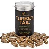 Noomadic Turkey Tail Mushroom (Trametes Versicolor, Coriolus) Capsules, Immune Booster, Dual Extract, 30% Beta-D-Glucans