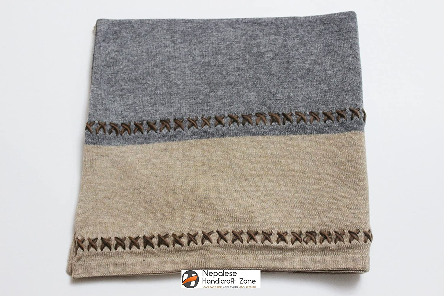 Natural Color Pure Himalayan Cashmere Handmade in Nepal Exclusive Cashmere Poncho