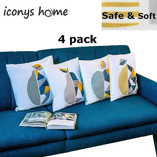 Diseñador Cojines Sofas, Cama, Decoracion 45x45 (4 Piezas)- Fundas ...
