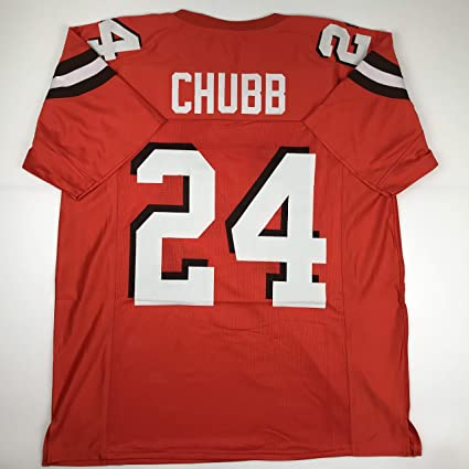 the latest c989d 754ab Unsigned Nick Chubb Cleveland Orange Custom Stitched Football Jersey Size  Men's XL New No Brands/Logos
