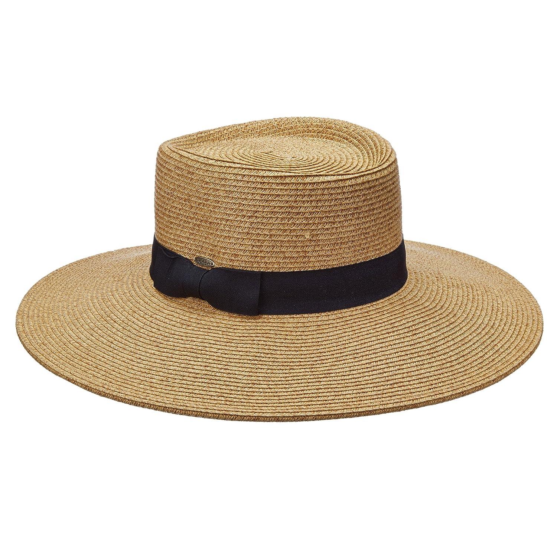2001b427519cbf SCALA COLLEZIONE HUGE 4 INCH BRIM UPF50+ PAPER BRAID SUN HAT (LP237)  (NATURAL) at Amazon Women's Clothing store: