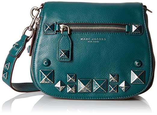 b3a667be4fef3 Amazon.com  Marc Jacobs Small Recruit Chipped Studs Saddle Bag