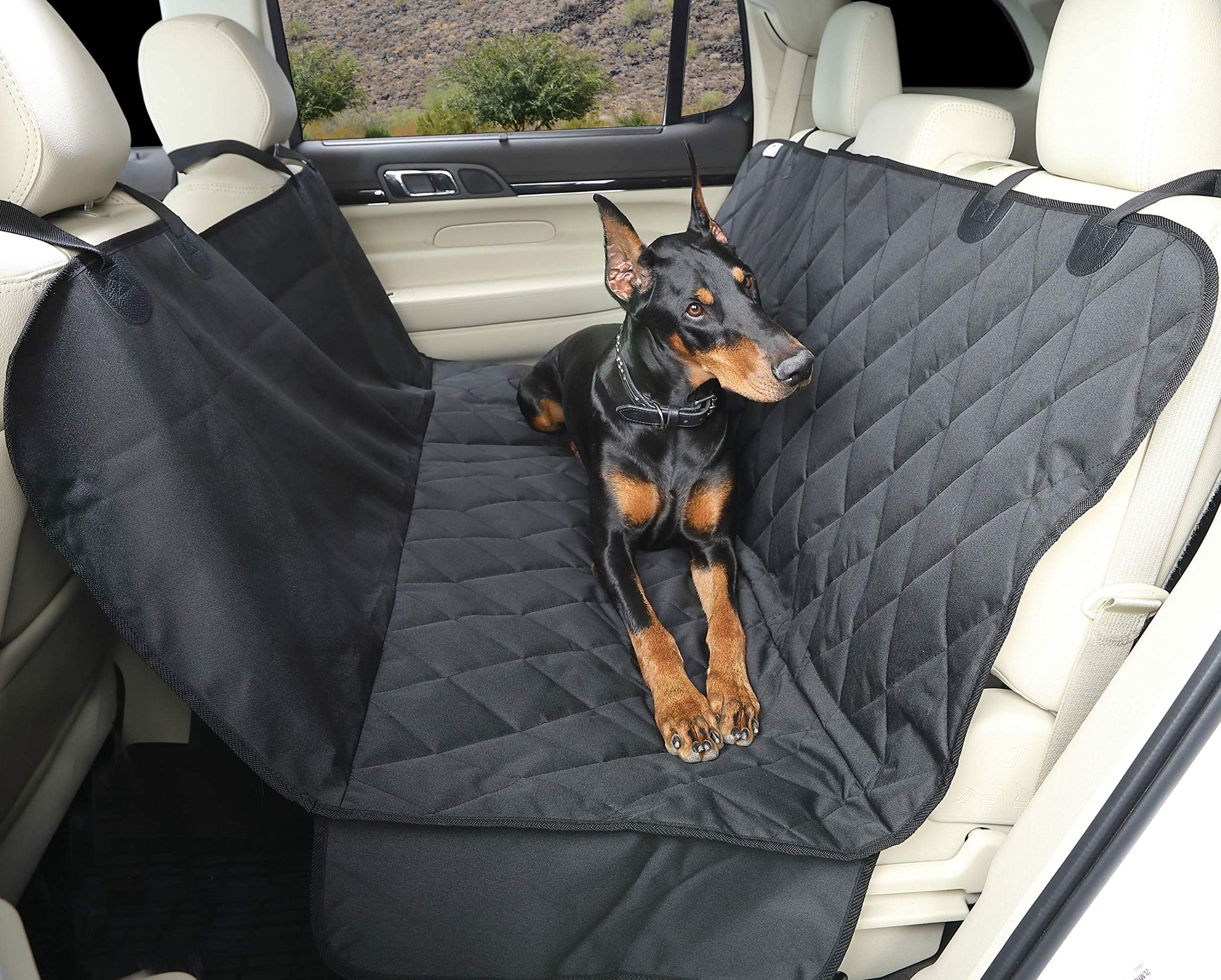4Knines Dog Seat Cover with Hammock for Full Size Trucks and Large SUVs - Black Extra Large - USA Based Company by 4Knines (Image #3)