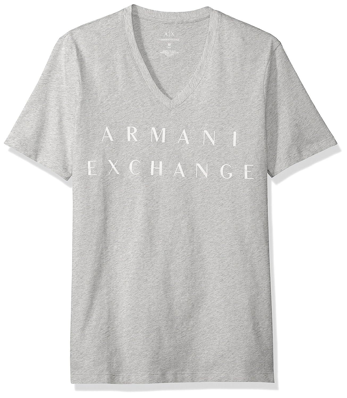 [AX アルマーニ エクスチェンジ]ブランドネーム VネックTシャツ 8NZTCM/ZJH4Z メンズ B01N9O4S6A 日本 M-(日本サイズM相当)|B09b HEATHER GREY B09b HEATHER GREY 日本 M-(日本サイズM相当)