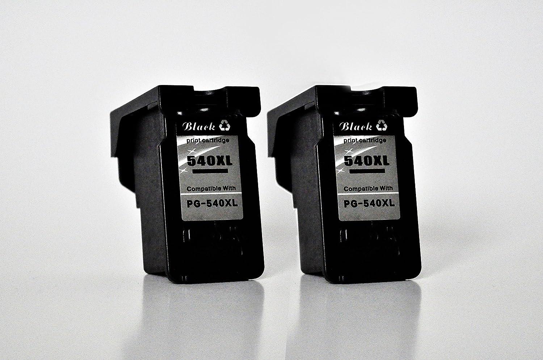 PG-540XL Printing Saver Pack de 2 Negro Cartuchos de Tinta compatibles para Canon Pixma MG2150 MG2250 MG3150 MG3250 MG3255 MG3350 MG3550 MG3650 MG4150 ...