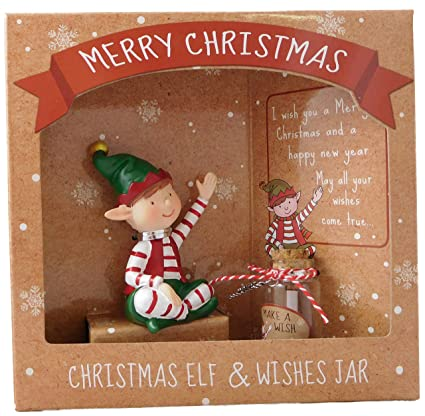 Regalo Di Natale Speciale.Natale Seduto Elf Wishes Jar Regalo Speciale Di Natale Stocking Fillers Secret Santa Decorazioni Di Natale