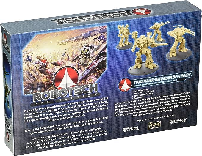 Robotech RPG Tactics: U.E.D.F. Destroid Pack: Amazon.es: Juguetes ...