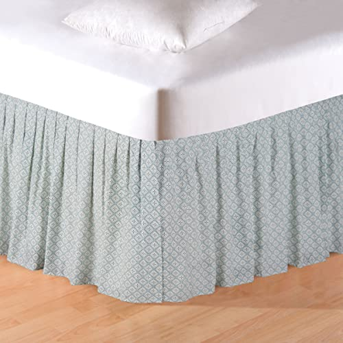 C F Home Amherst Blue Queen Bed Skirt Queen Bed Skirt Blue