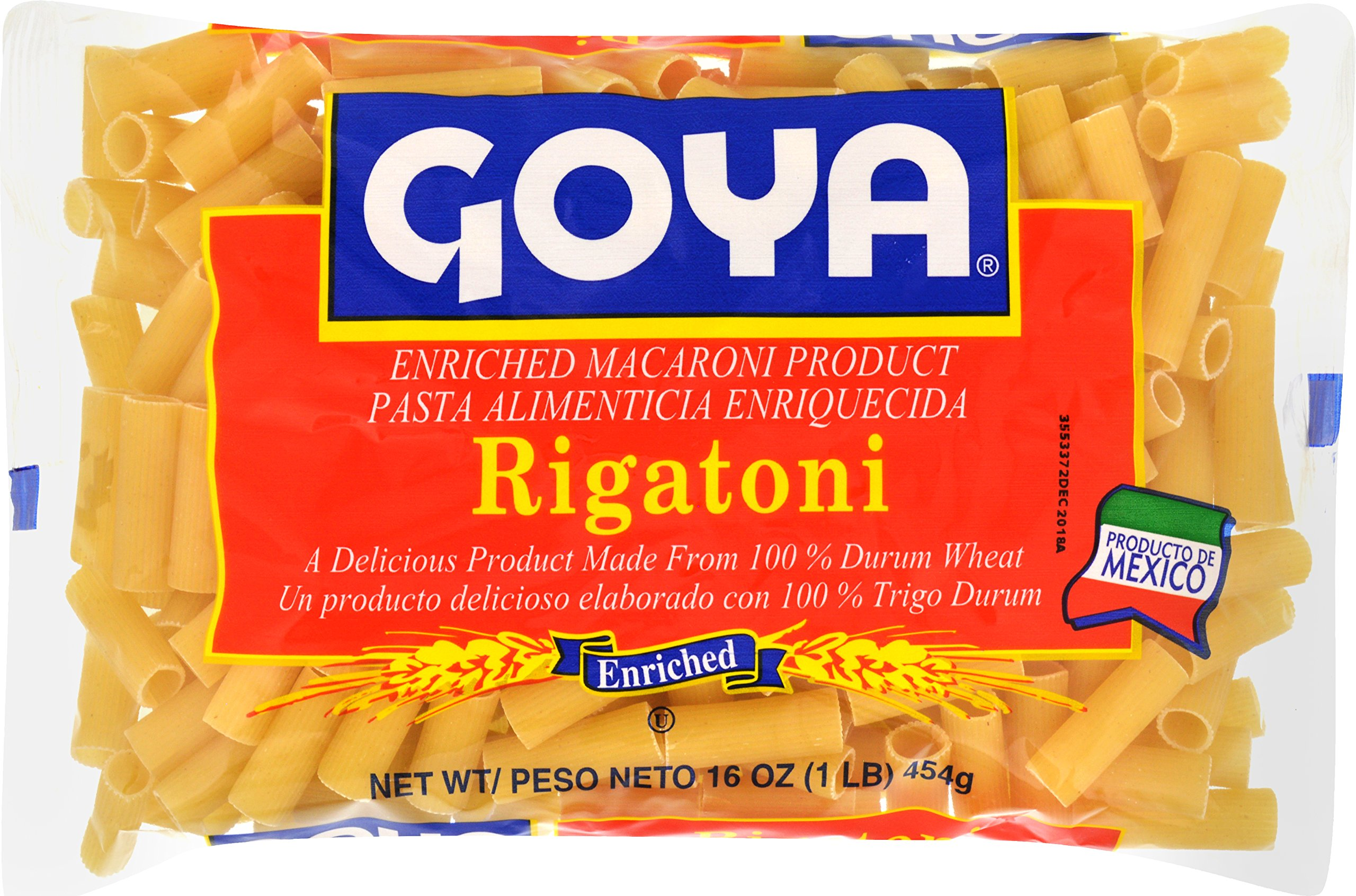 Goya Foods Rigatoni Pasta, 16-Ounce (Pack of 20)