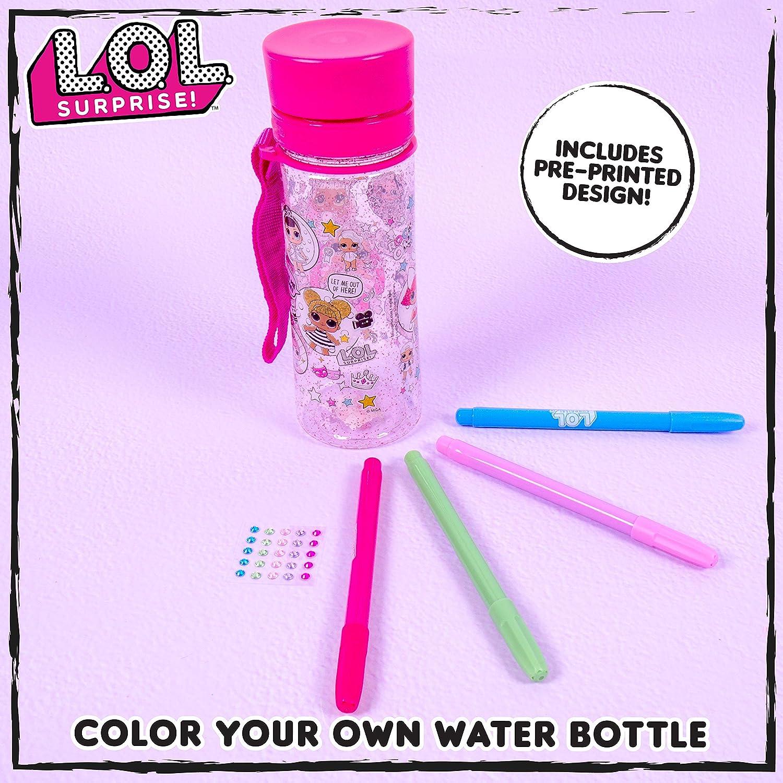 LOL Surprise lot of 3 glitter water bottles