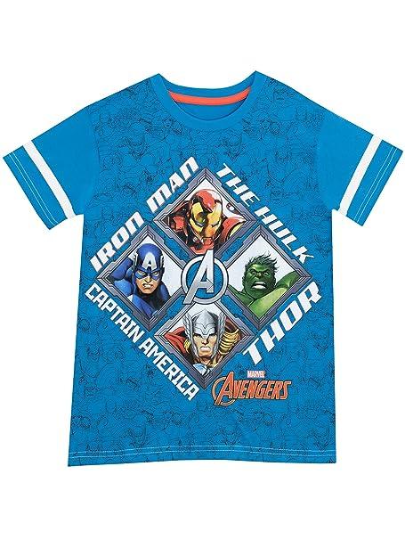 Marvel Avengers - Camiseta para Niño - Vengadores: Amazon.es: Ropa y accesorios