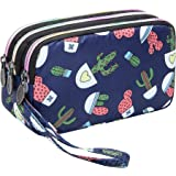Large Capacity Wristlet Wallet - Women Printed Nylon Waterproof Handbag Clutch Purse