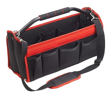 Robuster /& wasserdichter Hartplastikboden STROXX offene Werkzeugtasche 41 x 33 x 21 cm 31 F/ächer Leere XL Werkzeugbox F/ür mehr /Übersichtlichkeit bei der handwerklichen Arbeit