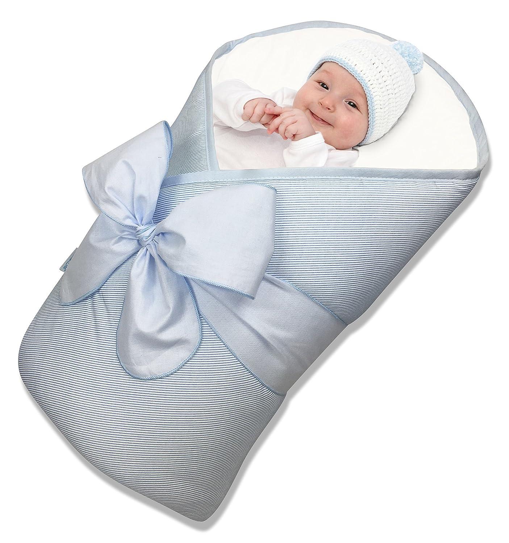 BundleBee バンドルビー マットレスおくるみ Baby Wrap Baby in gift wrap ベビーラップ ベビー イン ギフトラップ ブルー&ホワイトストライプ  ブルー&ホワイトストライプ B00JWBTU7M
