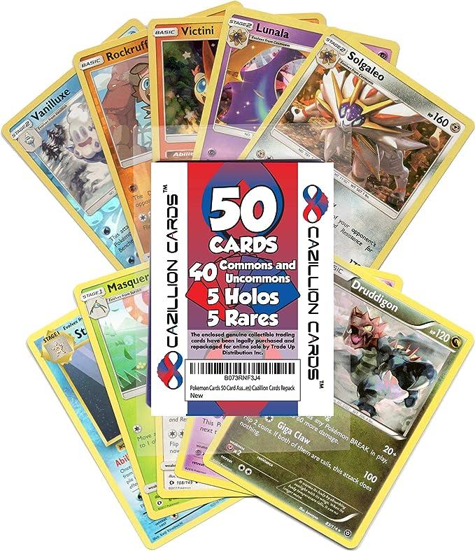 Amazon.com: Tarjetas de Pokemon 50 tarjetas surtidas ...
