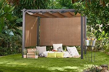 Amazon.com : Coolaroo Constantine Pergola, Backyard Or Patio Shade Pergola,  Light Filtering 90% UV Block, (9u0027 X 9u0027), Mocha : Garden U0026 Outdoor