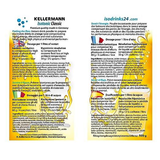 10 x 500 g bebida isotónica en polvo KELLERMANN® ISOTONIC ...