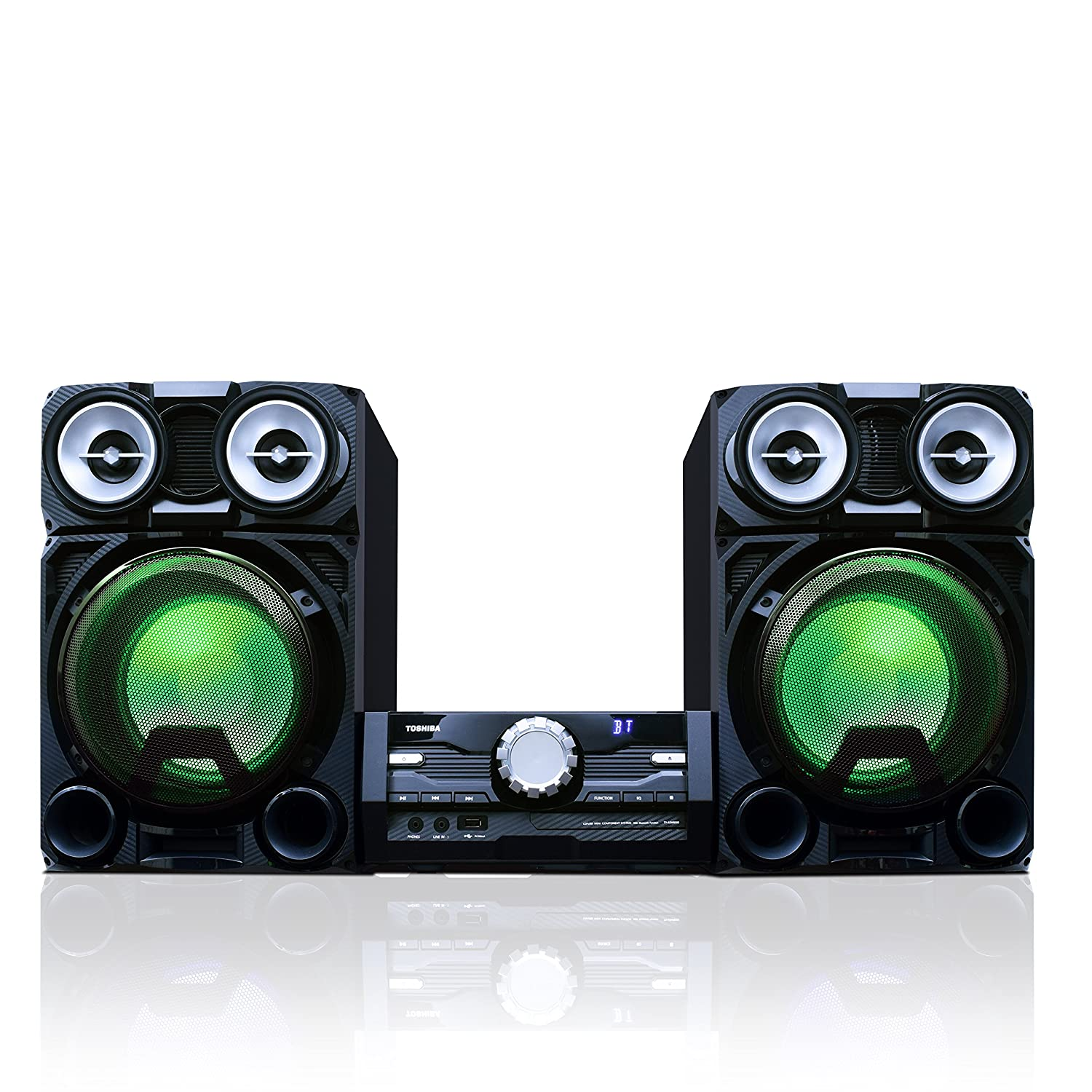 Amazon.com: Toshiba 800 Watt Bluetooth Stereo Sound System: Wireless Mini  Component Home Speaker System with LED Lights: Electronics