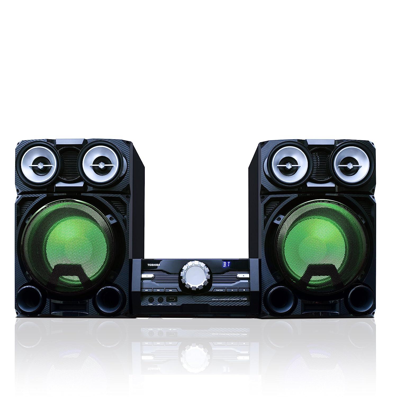 amazon com toshiba ty asw8000 800 watt bluetooth stereo soundamazon com toshiba ty asw8000 800 watt bluetooth stereo sound system wireless mini component home speaker system with led lights electronics