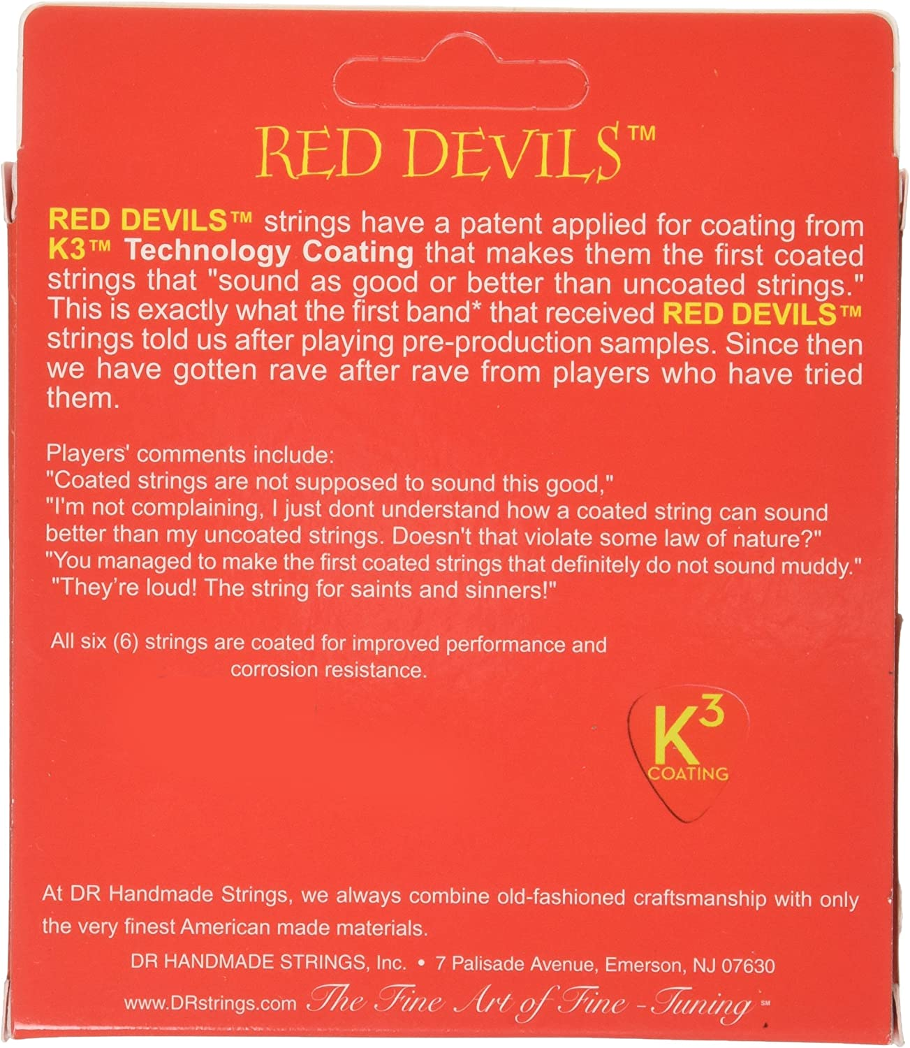 DR Strings Red Devils Red Coated Acoustic11-50 Musical Instruments ...