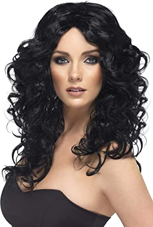 Cher Glamour Wig Black Long Curly by Smiffy/'s