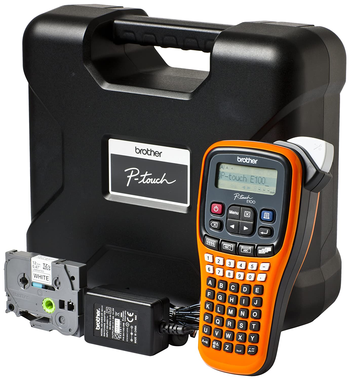 Brother PT-E100VP - Impresora de etiquetas (180 x 180 DPI, 9 mm, Transferencia térmica, 20 mm/seg, LCD, 720 carácteres) (importado) PT-E100VP-BROTHER_IT