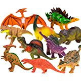 Toysery Realistic Looking Dinosaurs Toys Set for Kids - Plastic Assorted Dinosaur Toys Figures - Pack of 10pcs, 5-Inches