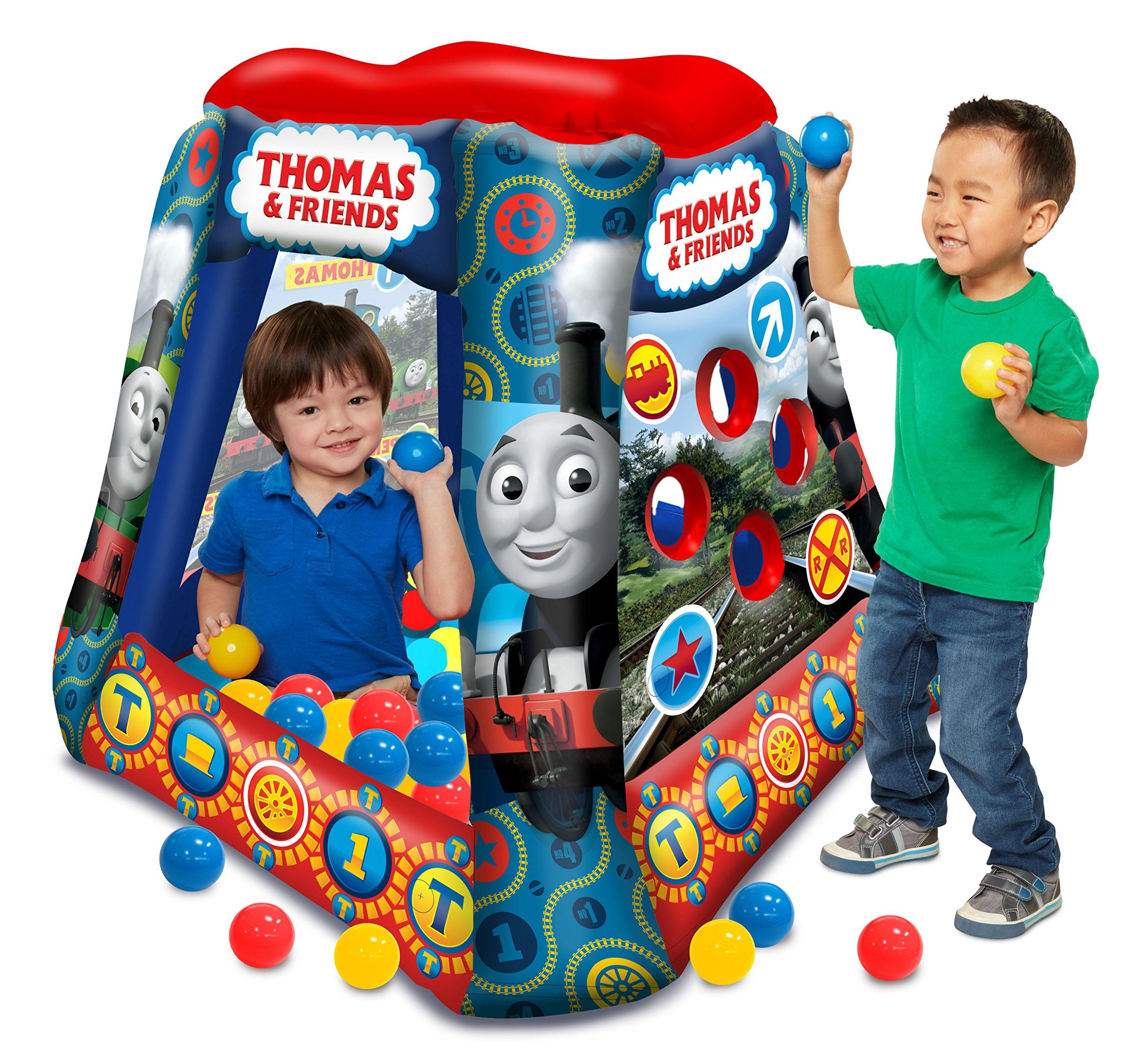 Thomas & Friends Ball Pit, 1 Inflatable & 20 Sof-Flex Balls, Blue/Red, 37''W x 37''D x 34''H