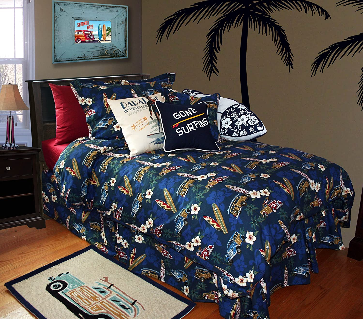 Amazon.com: Surf Duvet Set By Dean Miller -- Tradewind Trolly ... : surf quilt cover - Adamdwight.com