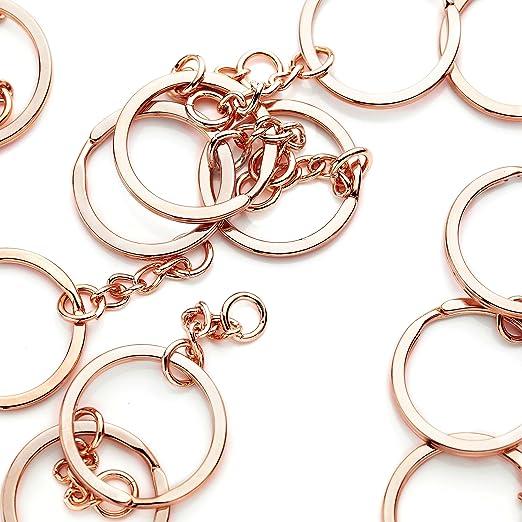 Flat Split Key Ring  Key Chain 25mm  1'' Split Rings With 4 Color 10PCS-1000PCS
