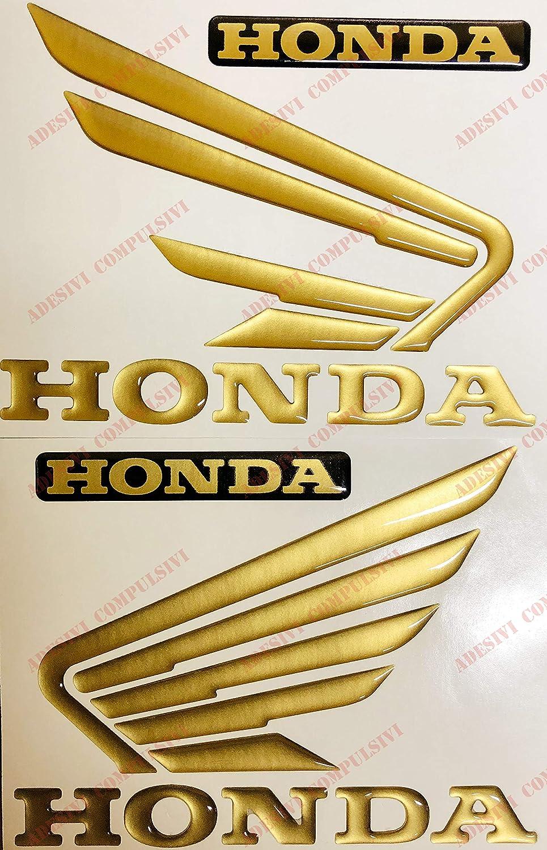 Stemma logo decal HONDA, coppia ali HORNET in rilievo, adesivi resinati effetto 3D. Per SERBATOIO o CASCO Adesivi Compulsivi