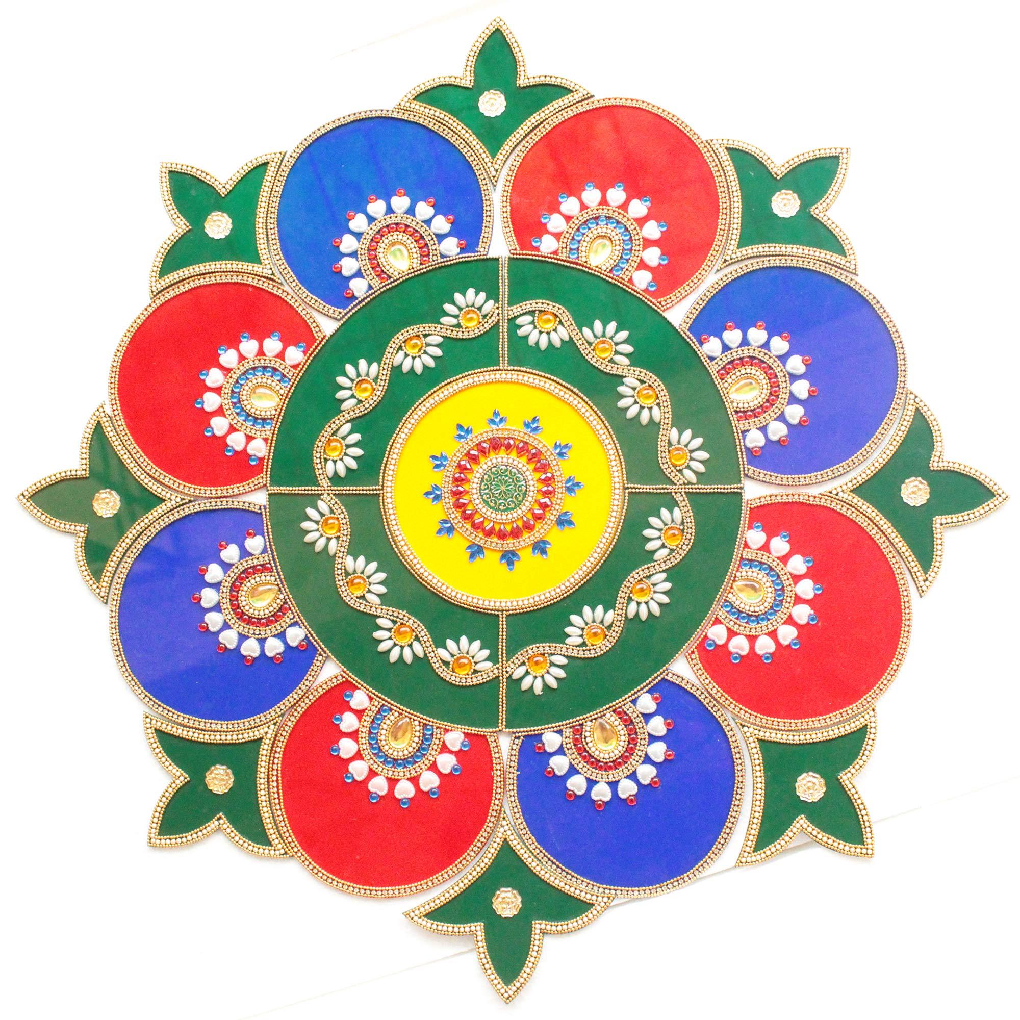 Ethnic Avenue Geometric Mandala Wall/Floor / Table Decorations - 21 Piece Acrylic Handmade Home Decor Accents