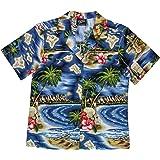 RJC Women's Hibiscus Hawaiian Island Hawaiian Camp Shirt